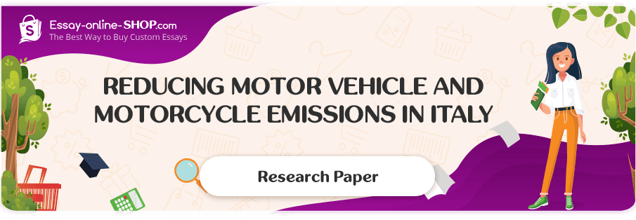 Reducing Motor Vehicle and Motorcycle Emissions in Italy